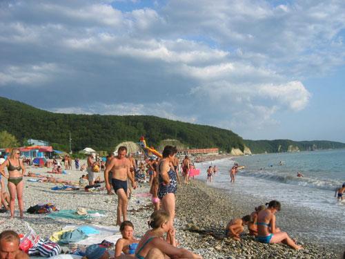 агой фото пляжа и поселка