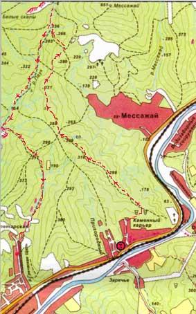 Карта маршрута: схема маршрута